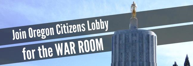 OCL war room website main image with the top of the Oregon State Capital building.