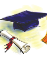 Clipart: Graduation cap and diploma