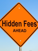 Hidden Fees Ahead warning sign