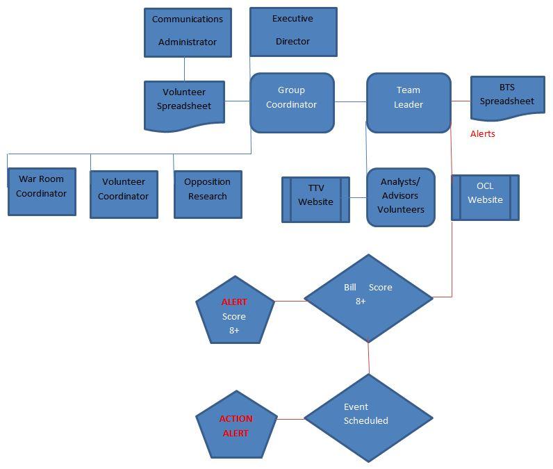 Group Coordinator & Team Leader Flow Chart